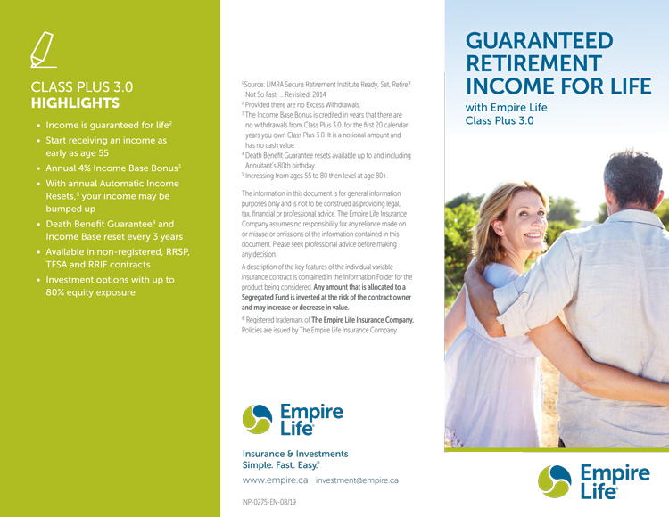 Guaranteed Retirement Income for Life